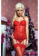 Some Like It Hot Bustier - Red - Medium